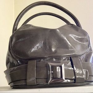 Mod Style Patent Leather Dr. Style Handbag